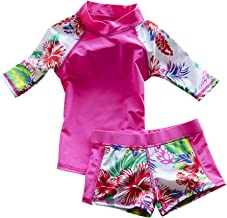 Baby Toddler Boy Girl Two Piece Swimsuit Set Kid Swimwear Bathing Suit UPF 50+