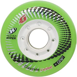 HYPER CONCRETE+G GREEN 76MM/84A (4 WHEELS per pack) - inline wheels for freeride, recreational and slalom