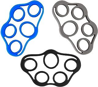 VOOCO Finger Stretcher Hand Resistance Bands Hand Extensor Exerciser Finger Grip Strengthener Strength Trainer Gripper Set