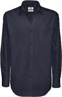 B&C Mens Sharp Twill Cotton Long Sleeve Shirt/Mens Shirts