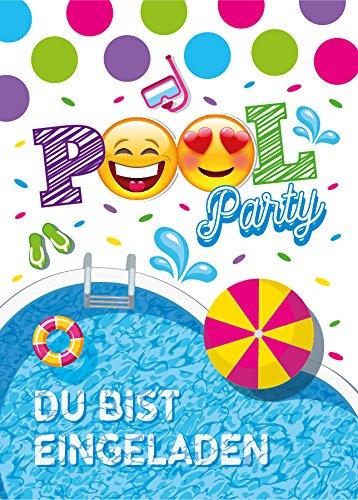 10 Einladungskarten Geburtstag Kinder Schwimmbad für Mädchen Jungen Jungs Einladungen Kindergeburtstag Geburtstagseinladungen Set Kartenset Party