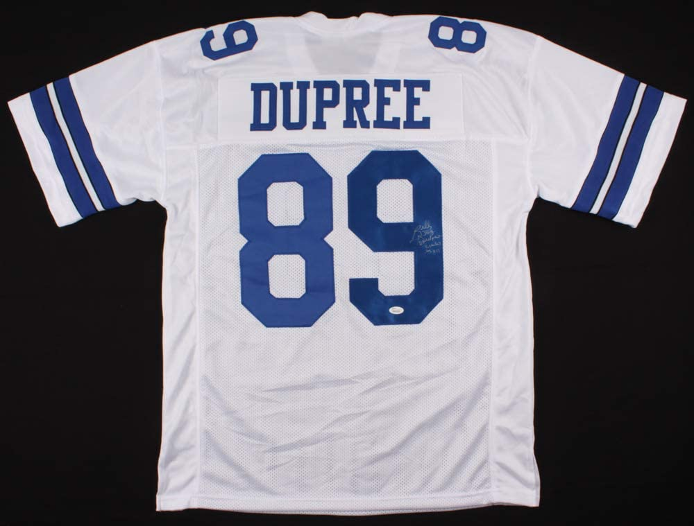 Billy Joe DuPree #89 Signed Dallas 40% Max 43% OFF OFF Cheap Sale JSA Inscribed COA Jersey