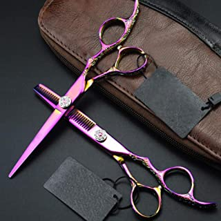 Hair Thinning Scissors, Hairdresser Scissors Set Professional Hair Cutting Scissors and Hairdressing Thinning Scissors for...