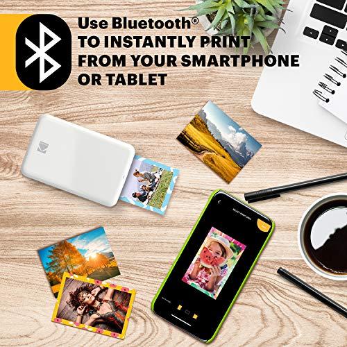 Kodak Step Impresora Móvil com Tecnologia Zink - Imprime Fotos Adhesivas de 2X3 Pulgadas Desde Cualquier Dispositivo Comnfc o Bluetooth - Blanco