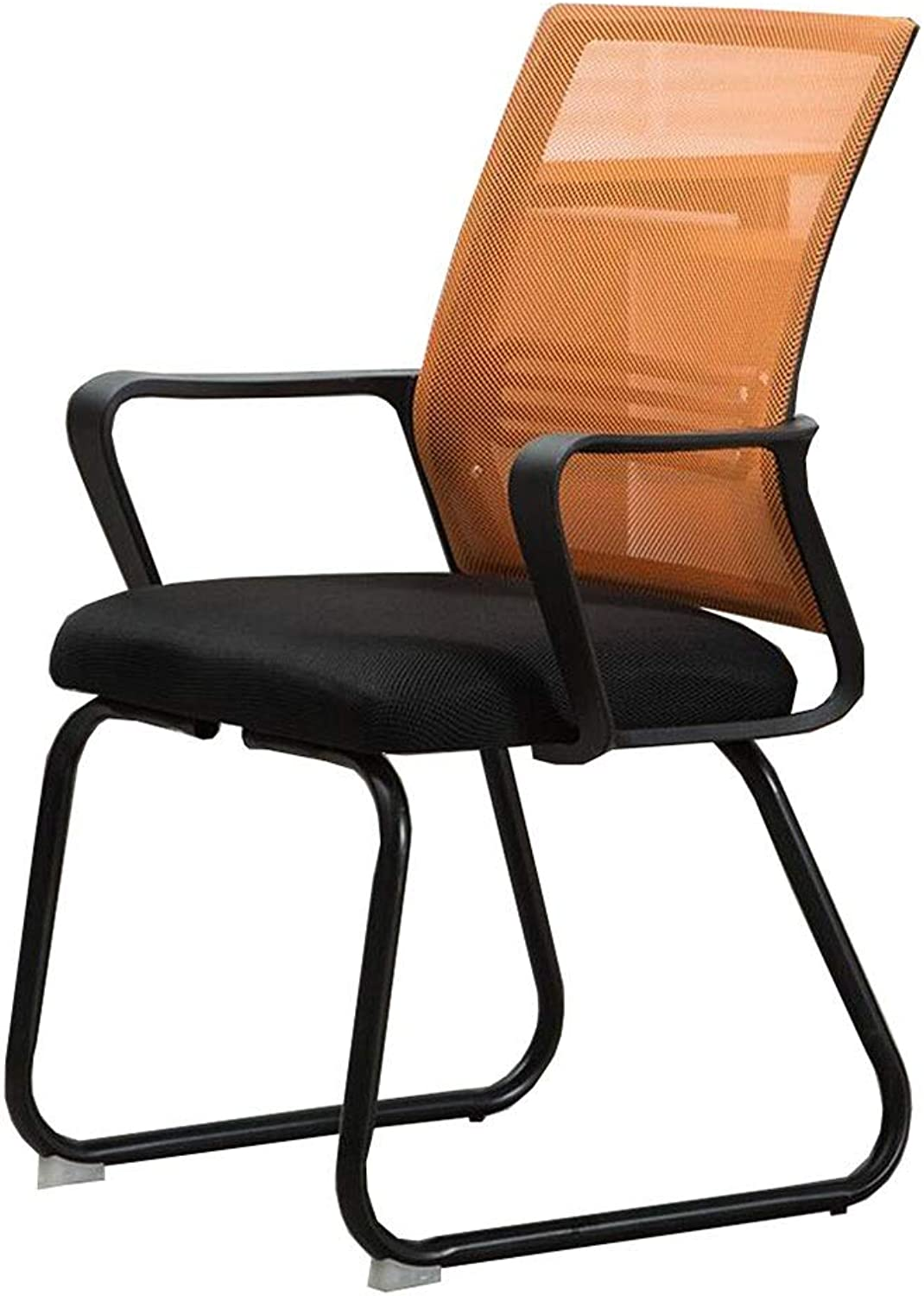 Dall Office Chair Ergonomic Bow-Shape Mesh Desk Chair Lumbar Support Steel Frame Staff Chair 42×53×90cm (color   orange, Size   Black Frame)
