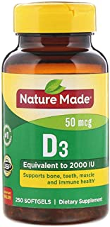 Nature Made Vitamin-D3 50 mcg - 250 Softgels