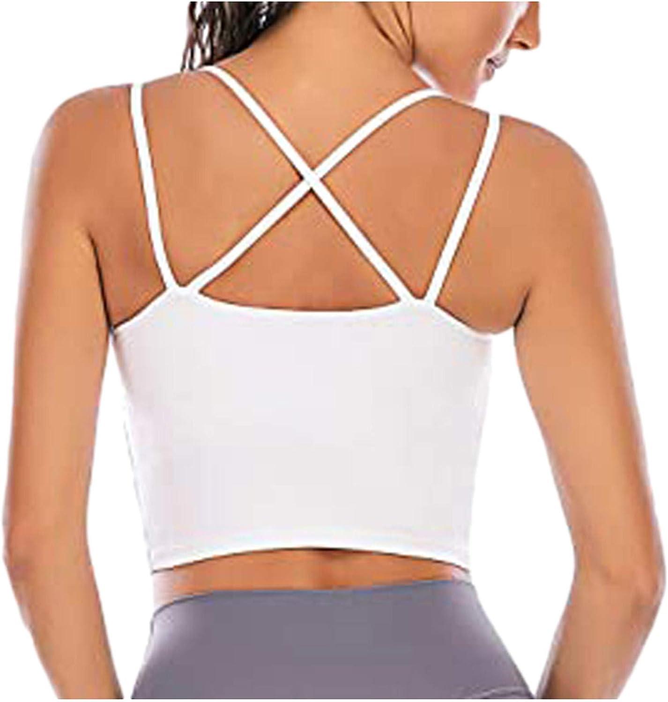 VEKDONE Fashion Women Sleeveless Lightweight Casual Vest, Ladies Chest pad Movement U-Neck Sexy Short Tank Tops
