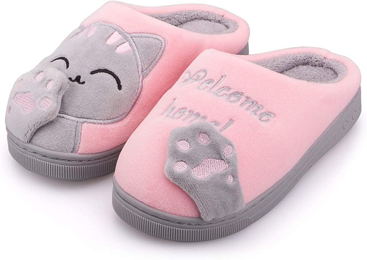 Boys Girls House Slippers Kids F Max 48% OFF Max 56% OFF Warm Comfy Cute Animal