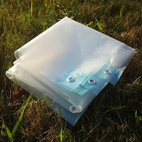 LIXIONG Telone telo copertura trasparente Panno pioggia serra capannone all'aperto Capannone Spessore 0.13mm, 22 taglie (dimensioni : 6X6m)