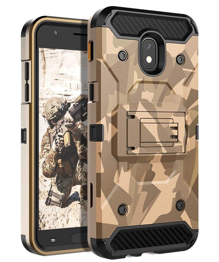 HUATRK Samsung Galaxy J3 2018 Case Kickstand Three Layer Heavy Duty Shockproof Protective Cover Compatible Galaxy J3 Achieve/Amp Prime 3/J3V/Express Prime 3/J3 Star/Sol 3/J3 Orbit/J3 Aura - Camouflage