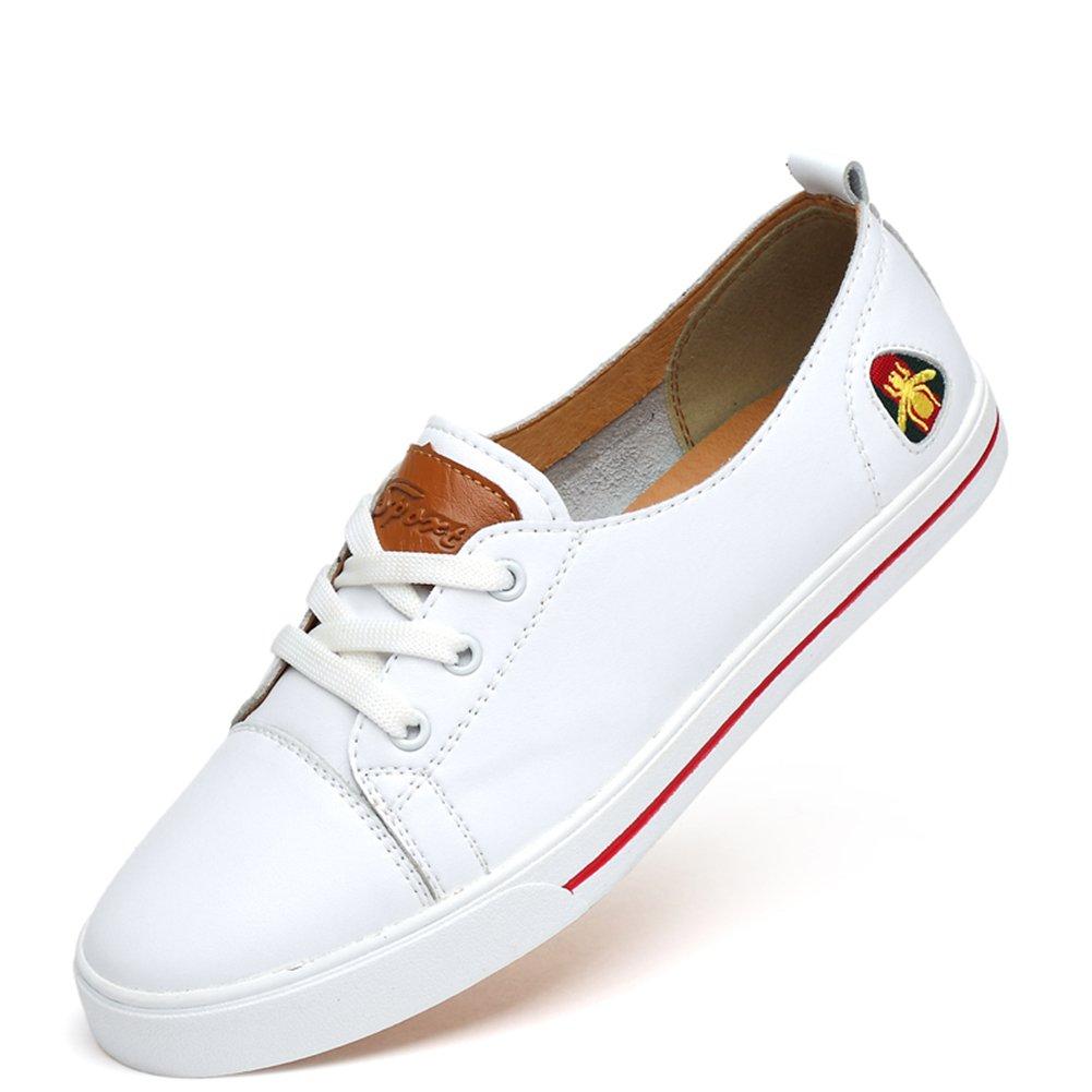 FeO DvKeアイアンデューク夏カップルモデルの靴革の靴愛好家白い靴刺繍の蜂の靴ND85-Z6605-M