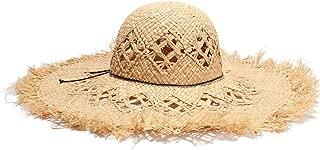 Sun Hat for men and women Beach Hat Sun Hat Summer Straw Hat Raw Edge Ladies Bow Big Straw Hat Visor Panama Hat