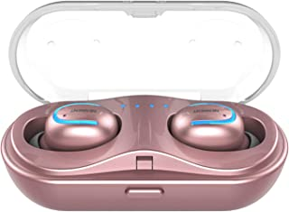 Bluetooth Earbuds,NENRENT Q13 TWS True Wireless Earbuds, Bluetooth 5.0 Earpieces with Charging Case HD Stereo Sound 16H Playtime,Bluetooth Wireless Headphones W/Built in Mic for Calls( Rose Gold)