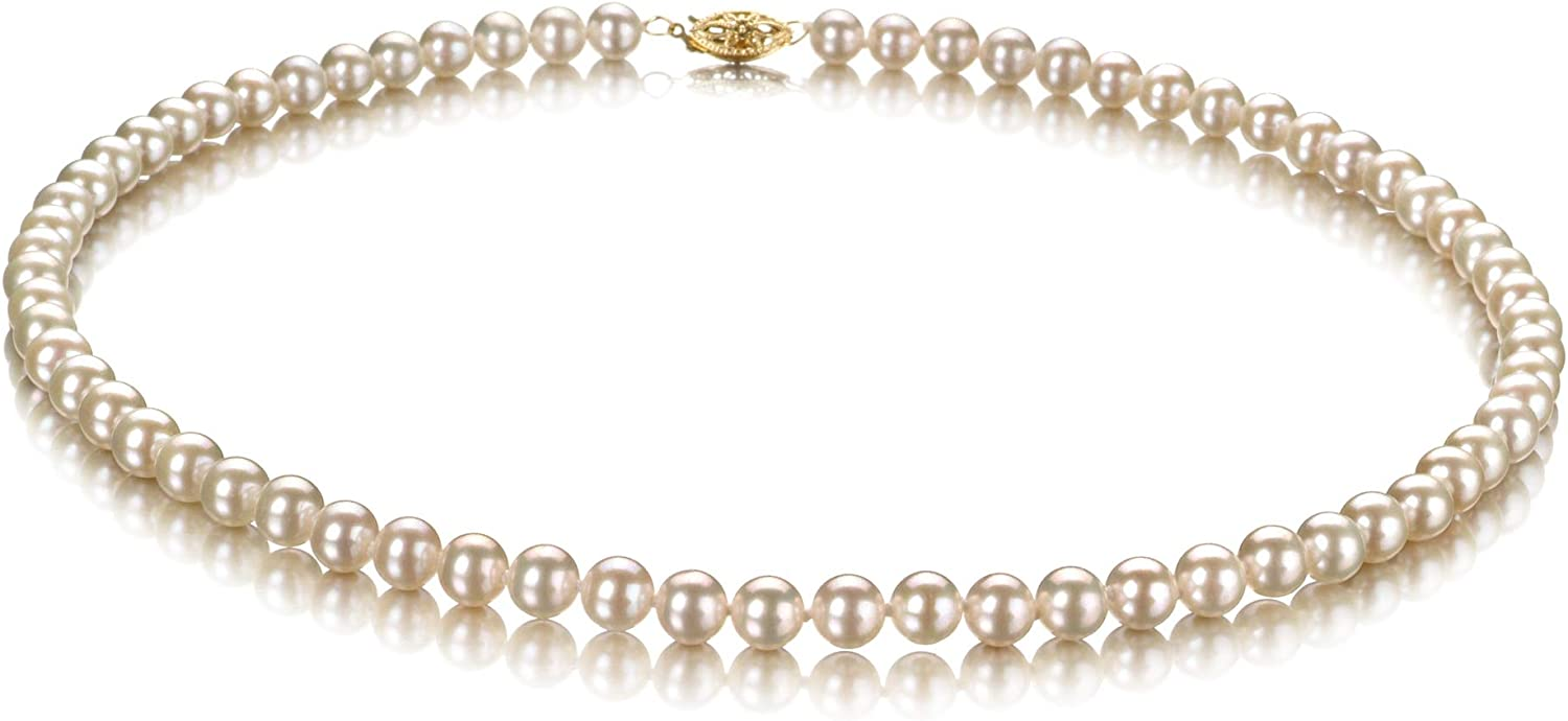 Discount mail order White 5.5-6mm AAA Quality Freshwater Pearl Max 59% OFF Necklace for Cultured