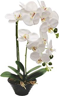 RENATUHOM Sztuczne aranżacje kwiatowe orchidei z porcelanow