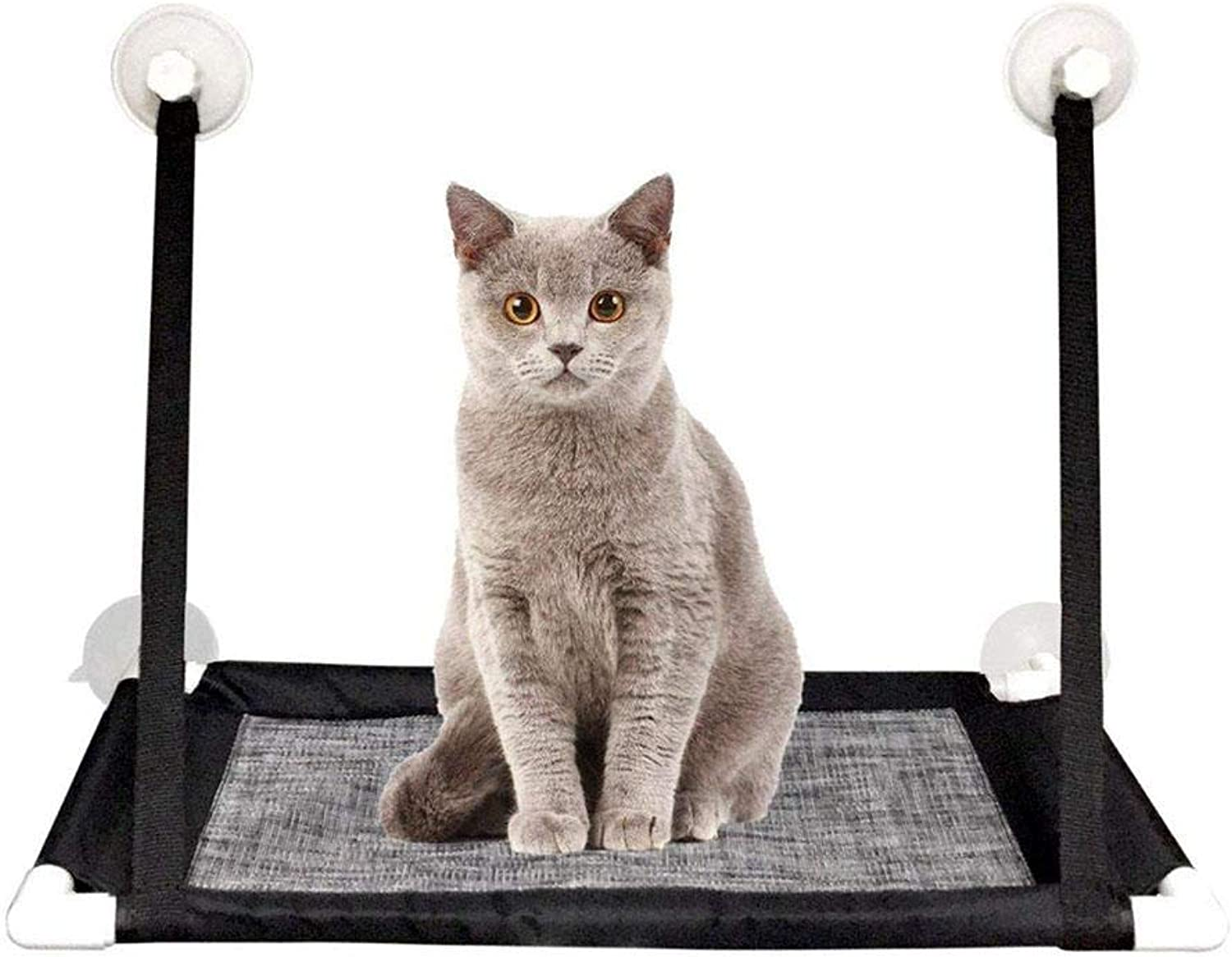Pet Cat Window Mounted Hammock with Heavy Duty Suction Cups Breathable Comfortable Hanging Bed