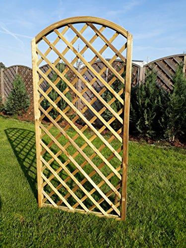 Rankgitter Rankzaun Trennspalier Bogen Garten Zaun Gartenholz 0,90cm x180 cm- Natur Bogen