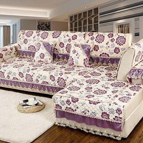 FEIZISofá,la Cubierta del sofá,Toalla de Tela Full-revestida Four Seasons Universal Living Comedor Moderno Simple Antideslizante sofá Mat-O 70x70cm(28x28inch)