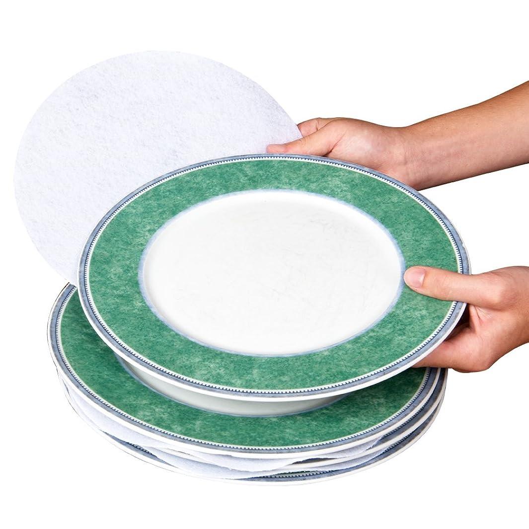 Evelots Multi Size Felt Plate Separators, Fine China & Dish Protectors-Set of 48