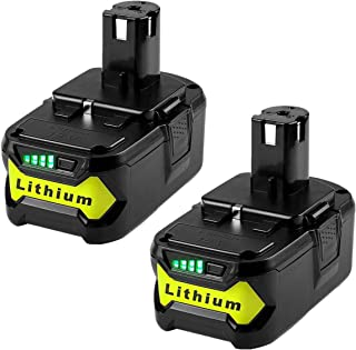 2Pack 18v 5.0Ah Lithium-ion Replacement Battery for Ryobi One+ P108 P102 P103 P105 P107 P122 P100 RB18L50 RB18L25 RB18L15 RB18L40