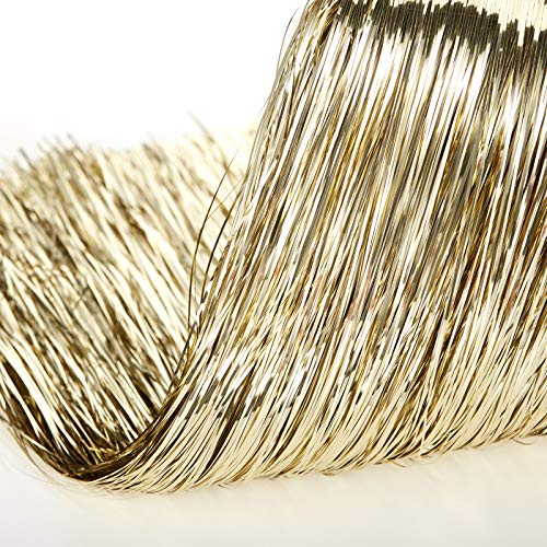 2500 Strands Decorations Tinsel Garland Tinsel Foil Fringe Icicles for Christmas Home Holiday Decor Birthday Graduation Supplies (Gold)