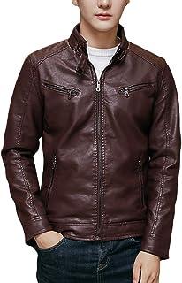 FOMANSH レザージャケット メンズ バイクジャケット PUレザー 裏毛 3色展開 大きいサイズ M-3XL ライダースジャケット 春