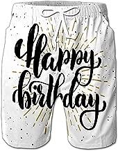 Quick Dry Happy Birthday Motivation Quote Design Element Banner Beach Shorts Swim Trunks Board Shorts