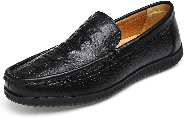 GTYMFH Herbst Herren Peas Schuhe Koreanische Version Leder Herrenschuhe Freizeitschuhe Einzelne Schuhe