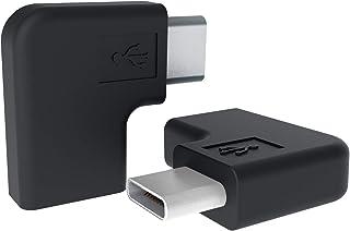 USB Type C L字型 変換アダプタ 2個 90度角度付き 向き変換コネクト USB 3.1 オスメス 延長アダプタ wuernine 高速充電 データ伝送 Wacom Cintiq/Macbook Pro/ノートPC/Switch/Oc...