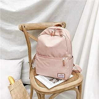 YALADLY Ancient Sense Girl Bag Female Backpack Campus Simple High Junior High School College Students Korean Sen Hong Kong Wind Backpack (Color : Pink)