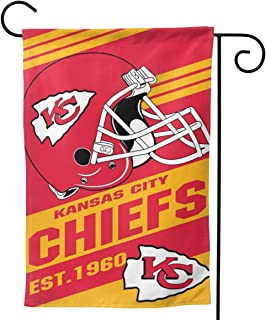 TeamService Kansas City Chiefs Double Sided Weatherproof, Wrinkle Resistant Garden Flags, Outdoor Garden Flags and The Best Patio Decor