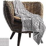 Faux Fur Throw Blanket (180X230cm) Geometrisches, symmetrisches Muster mit...