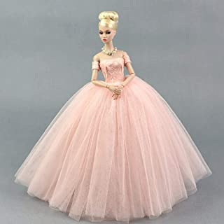 HOMES1 Barbie Clothes Dress + Veil/Gorgeous 5 Colors Voile Party Dress Evening Gown Clothing Outfit Accessories for 1/6 Xinyi Kurhn Barbie FR Doll DF0683