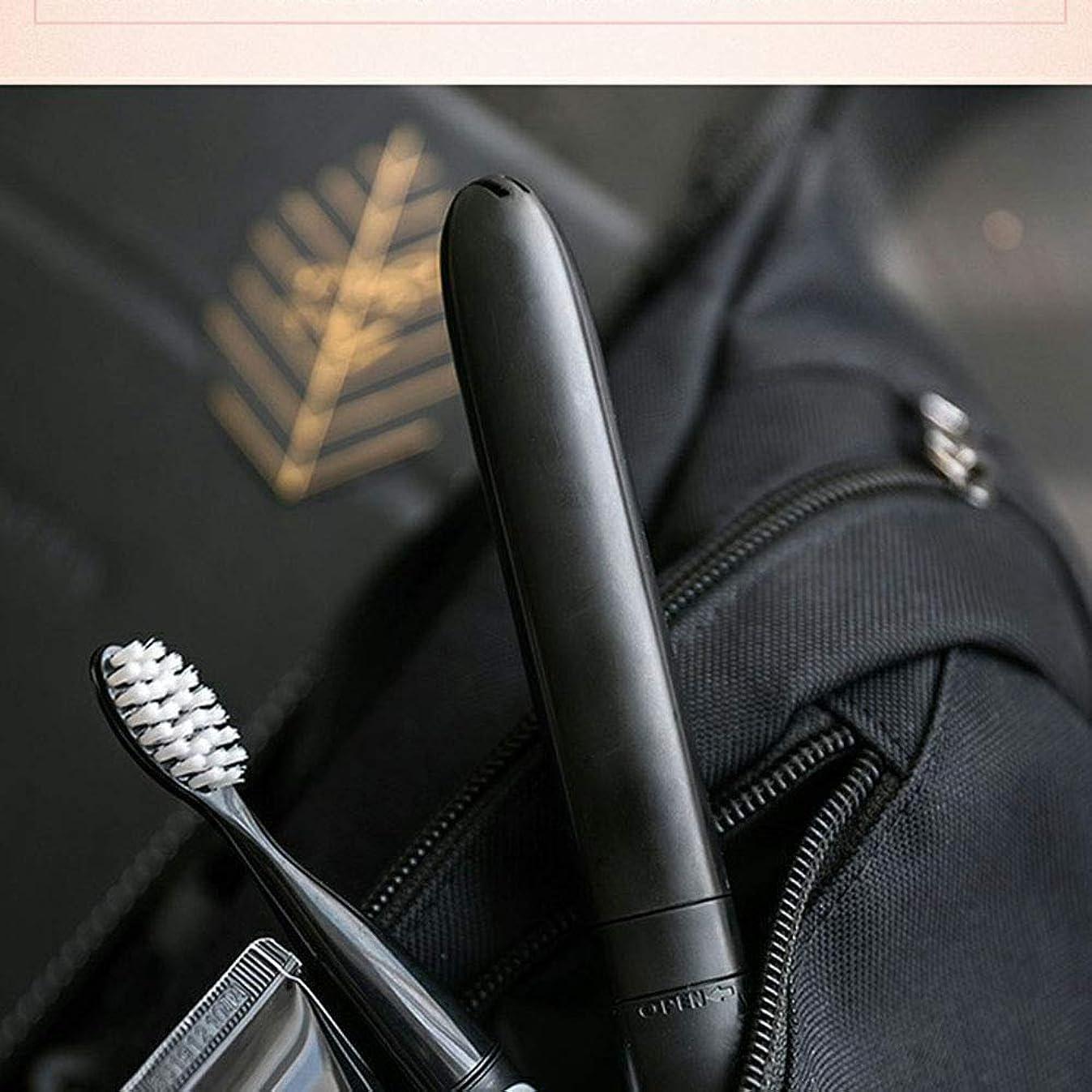 奨励します悪性腫瘍テラス電動歯ブラシ、大人用電動歯ブラシ便利なレイジーギフトソニック自動電動歯ブラシ,黒