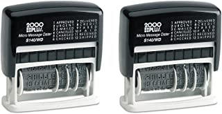 Cosco 2000 Plus Self-Inking Type Size 1 Micro Message Dater (011090), 2 Packs