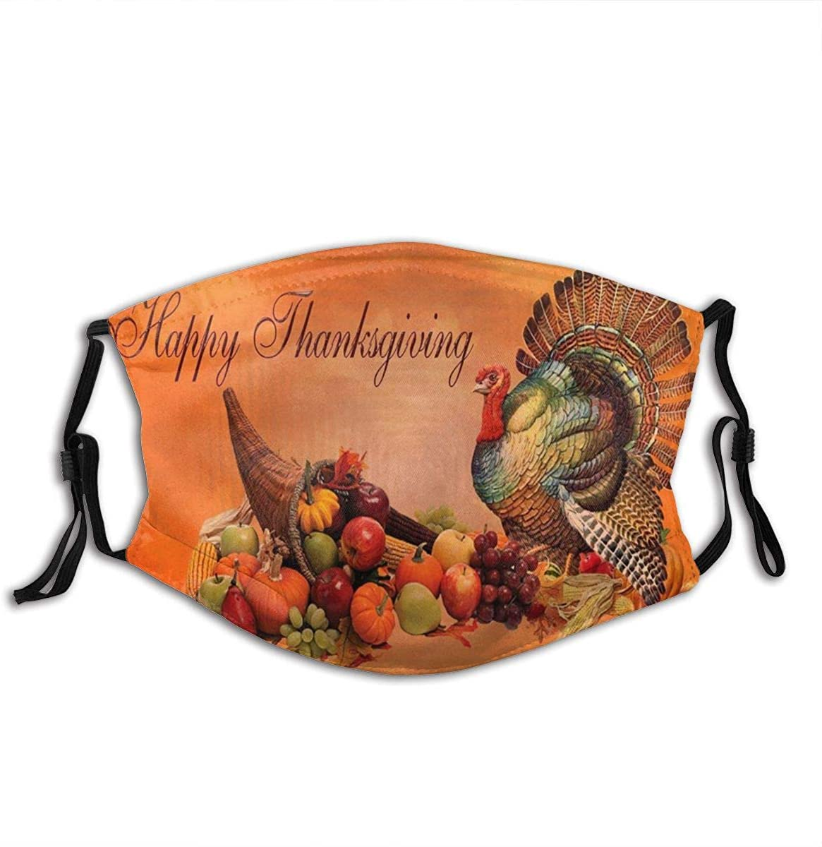 1-2PCS Thanksgiving Turkey Face Mask for Adults, Washable Face Scarf Reusable with 2-6 Filter for Men Women