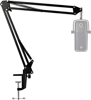 Wave 3 Microphone Stand, Professional Mic Boom Arm Stand Compatible with Elgato Wave 3 USB Condenser Microphone by SUNMON
