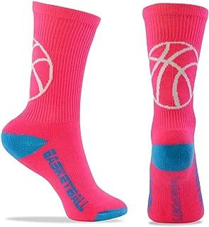 Basketball Woven Mid-Calf Socks | Classic Basketball | Multiple Colors