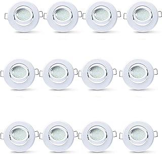 LAMPAOUS LED 5W D50 - Lote de 12 bombillas empotrables, luz empotrable de 400 lm, orientable, foco empotrable blanco natur...