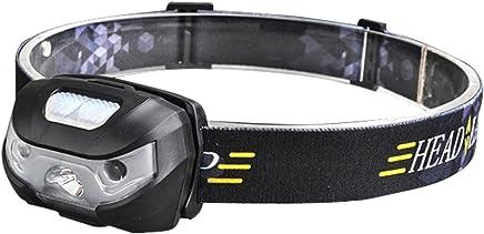 超軽い 高輝度 ヘッドライト USB充電式 LEDライト センサー機能付 防水 ハンディライト 角度調整可能 夜釣り アウトドア スポーツ用 ライト USBケーブル付き
