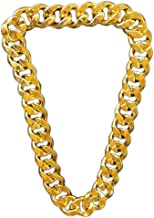 Lorigun Thug Life Gold Chain Plastic Thick Gold Necklace Thug Life Costume Huge Golden Chain Necklace, Punk Style Hip Hop Ornament (Circumference 31.2 Inches)