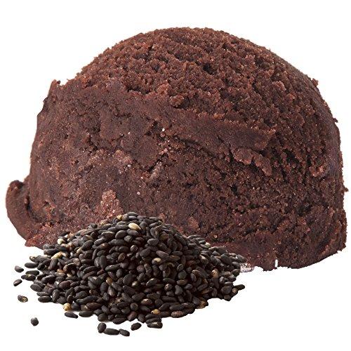 Schwarzer Sesam Geschmack 1 Kg Gino Gelati Eispulver für Fruchteis Softeispulver Speiseeispulver