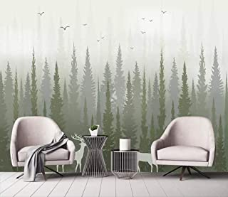 Wall Mural 3D Modern Pine Tree Woods Bird Sofa Custom Wallpaper 3D Effect Large Mural Wall Murals Home Decor