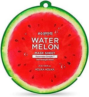 Holika Holika Water Meloen Maskerplaten 10 stuks met Water Meloen Hoofd Band voor Gezicht Was 25ml/0.84oz,watermeloen Comp...