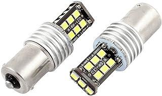 WerFamily High Power 1156 BA15S 15-SMD 2835 Backup Turn Signal Taillight White LED Light Bulbs 6000k (Pack of 2)