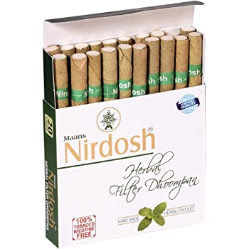 Buy Aarogyam Herbal Filter Bidi Dhoomrapan Total 30 Sticks Pack Of 3 Online At Low Prices In India Amazon In