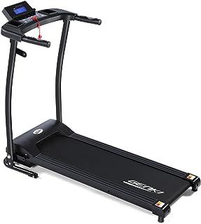 Genki Electric Treadmill Foldable Exercise Machine 1HP Quiet Jogging Walking Machine, 6 Quick Speed and 12 Preset Programs Motorised Treadmill