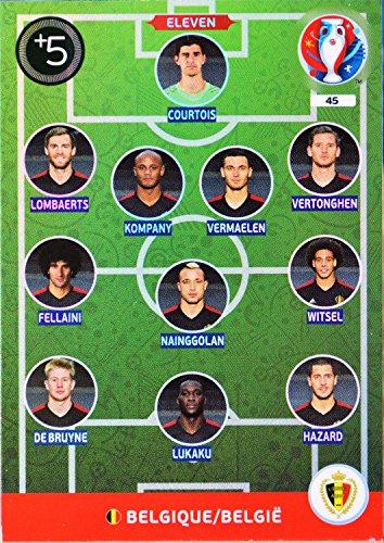 carte PANINI EURO 2016 #45 Eleven Belgium