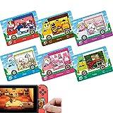 Paquete de 6 unidades de colaboración para cruces de animales New Horizons ACNH Amiibo Sanrio Mini Card, RV Villager Muebles compatibles con Switch/Switch Lite/New 3DS