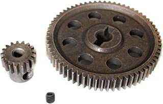 ShareGoo RC 11184 Spur Differential 64T Metal Main Gear & 11119 Pinion 17T Motor Gear,Replacement Gear Combo for HSP Redcat Volcano EPX 1/10 Monster Truck Car